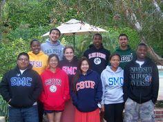 Grads in their school sweatshirts!
