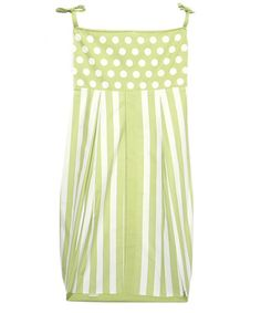 Take a look at this Tadpoles Green Polka Dot & Stripe Diaper Stacker by Tadpoles on #zulily today!