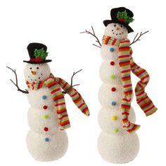 RAZ Candy Sprinkles 18.5 Snowman Decoration shelleybhomeandholiday.com