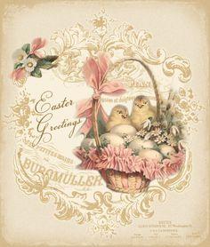 JanetK.Design Free digital vintage printable: Easter Joy