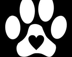 Paw Print with Heart Vinyl Decal for Car Window, Locker, Laptop, and More! - Pet Paw Print