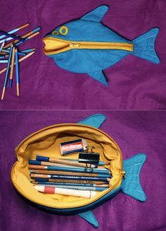 make into a whale pencil case too. // or maybe for knitting stuff? - make into a whale pencil case too… // or maybe for knitting stuff? Sewing Basics, Sewing Hacks, Sewing Tutorials, Sewing Crafts, Sewing Patterns, Tape Crafts, Sewing For Kids, Free Sewing, Sewing Box