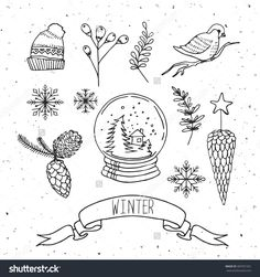 Image result for snow globe doodle