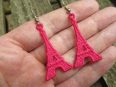 Machine Embroidery Design-FSL Paris' Eiffel Tower Earring or Charm