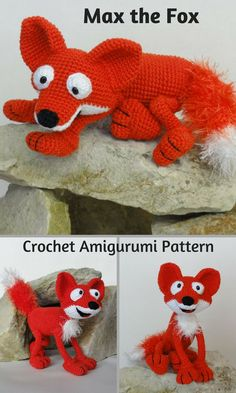 Max the Fox is a fun crocheted amigurumi doll that loves to take the dogs on a chase. You can create your own Max the Fox with this downloadable pattern. #crochet #amigurumi #crochetdoll #ad #amigurumidoll #amigurumipattern #fox #instantdownload