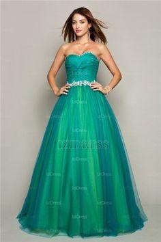 Ball Gown Strapless Sweetheart Tulle Prom Dress - IZIDRESSES.com