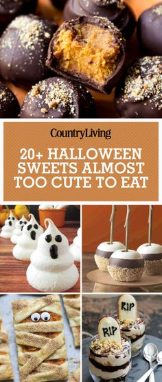 These mummy pumpkin cookie and ghost meringue  recipes are so cute it's scary. ​Try these Halloween dessert recipes at your next party.