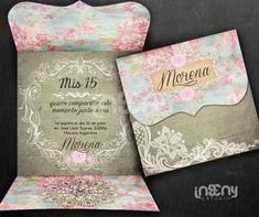 invitacion 15 años Floral Invitation, Wedding Invitation Cards, Wedding Cards, Princess Invitations, Vintage Invitations, Debut Planning, Wedding Invitation Inspiration, Sweet 15, Ideas Para Fiestas