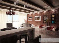 Home Decoration Red Exposed Brick Wall In Modern Living Room Beautify The Walls