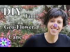 ▶ FIMO (Cane) Geometrische Blume: Polymer Clay Flower - Tutorial [HD/DE] (EN-Sub) - YouTube