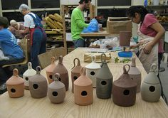 Clay+Pottery+Bird+Houses | Ideas for Thrown forms: Clay bird Houses « Clay Projects « miy ...