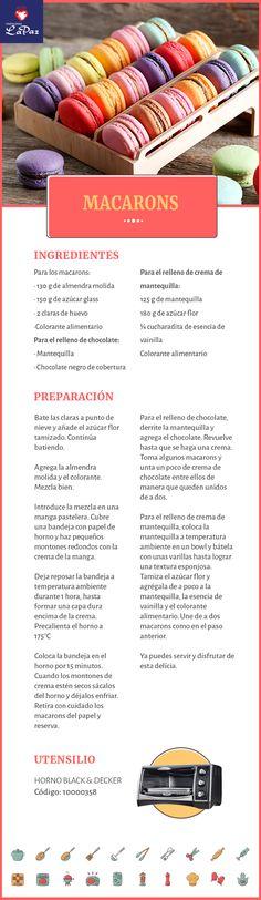 Pin by Brittany Kohler on Recetas De Pastelería Macarons, Macaron Cake, Cupcake Cakes, Cravings Chart, Food Cravings, Food Craving Chart, No Bake Desserts, Dessert Recipes, Donuts