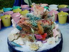 Aquarium Cake, Birthday Cake, Desserts, Food, Tailgate Desserts, Deserts, Birthday Cakes, Essen, Postres