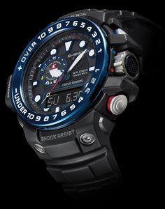 Casio G-Shock Gulfmaster GWN-1000: Equipped with Triple Sensors for measuring direction, atmospheric pressure/altitude, and temperature, the Gulfmaster GWN-1000 is an ocean concept model inspired by the image of a strong man against rough seas.