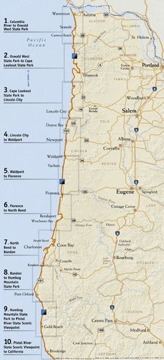 To do again listhwy 101 oregon coast mile by mile this gives the oregon coast trail is a long distance hiking route along the pacific coast of oregon 425 miles from the mouth of the columbia river to the california publicscrutiny Image collections