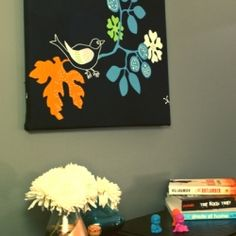 Tutorial on how to turn inexpensive fabric into a bold stylish piece of art for your home.