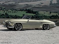 Mercedes-Benz 190SL. Who doesn't love this car? My dream car....