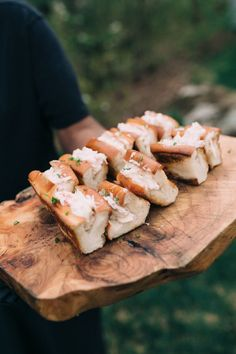 Mini Lobster Rolls: http://www.stylemepretty.com/2015/10/28/intimate-kennebunkport-wedding-2/ | Photography: Emily Delamater - http://emilydelamaterphotography.com/: