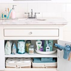 Bathroom organizing tips.