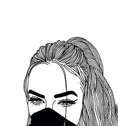 Outline art group with items Tumblr Girl Drawing, Tumblr Sketches, Tumblr Drawings, Cartoon Drawings, Drawing Sketches, Hipster Drawings, Tumblr Outline, Outline Art, Outline Drawings
