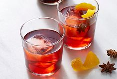 The Negroni, a popular Italian cocktail, has made a serious comeback in the past couple of years—and we can't get enough of it. Traditionally, this punchy, bitter cocktail is made with equal parts gin, sweet vermouth, and Campari. But for the holidays, we took inspiration from the spices in mulled wine—star anise, cinnamon, and cloves—and used them to infuse the Campari overnight. The result is a crowd-pleasing holiday cocktail that's very merry and quite delicious. We like to garnish each glass