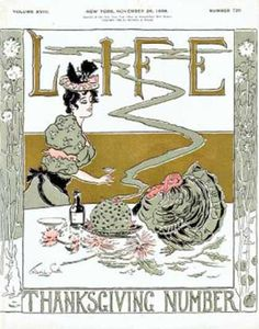 Life Magazine Cover Copyright 1896 Thanksgiving Turkey - Mad Men Art: The 1891-1970 Vintage Advertisement Art Collection