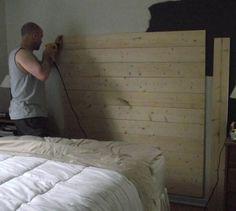 easy wood headboard DIY