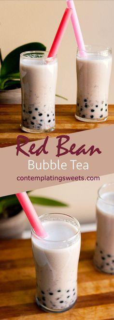 Easy Red Bean Bubble Tea