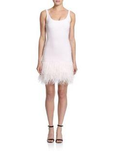 ELIZABETH AND JAMES India Feather-Hem Dress. #elizabethandjames #cloth #dress