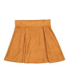 Love this Brown Pleated Skirt - Girls on #zulily! #zulilyfinds