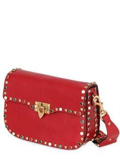 valentino - women - shoulder bags - guitar rockstud rolling cross body bag