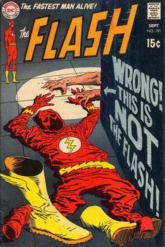 Well, I'm glad we cleared that up!  (Flash #191 cover by Joe Kubert)