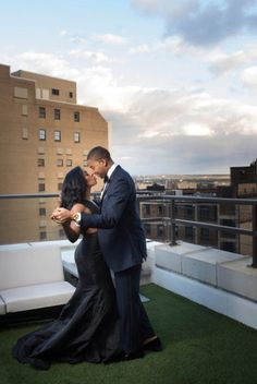 Timeless glamour engagement photos at The Metropolitan at the 9 in downtown Cleveland, photo by Kamron Khan Photography