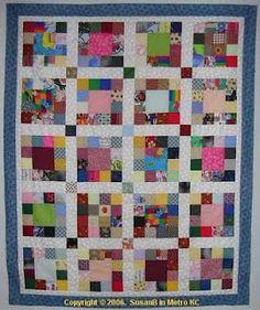 Alternate scrap quilt pattern