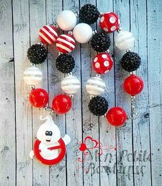 Ghostbusters  Inspired Chunky Bead Necklace by PrincessTali on Etsy