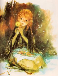 La petite fille aux allumettes (The Little Match Girl) illustrated by Paul Durand, a beautiful story The Little Match Girl, Andersen's Fairy Tales, Fairytale Art, Children's Book Illustration, Rwby, Grimm, Illustrators, Fantasy Art, Book Art