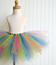 LOLLIPOP RAINBOW Tutu  Rainbow Collection by Whimsy by whimsypie, $29.00