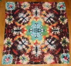 Psychedelic Snowflake Tiedye Mandala Tapestry by MadebyFreaks, $50.00