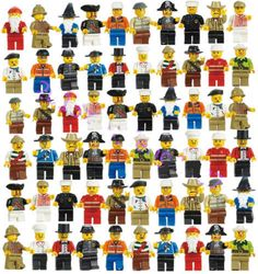 Grab Bag Lot of Minifigures Figures Men People Minifigs from City Sets 20 Pcs #Unbranded