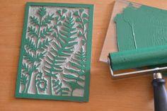 La Fabutineuse: Impression botanique et linogravure #3 : les fougères