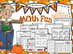 Fall Math Fun is packed with everything you need to practice Addition and Subtraction .... All Fall!