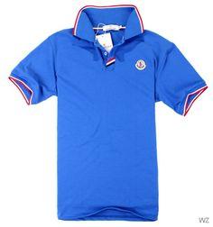 polo moncler homme bleu