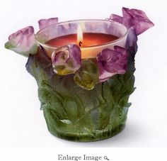 Daum Crystal Scented Candle Rose - Guaranteed Lowest Price