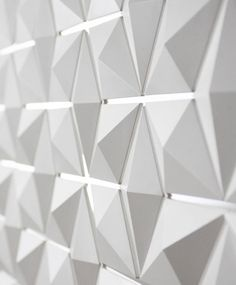 Light Facet, three-dimensional lighting fixture and room divider by Dutch studio Blooming _