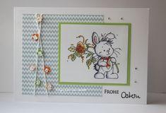 blog.karten-kunst.de - Osterkarte. Karten-Kunst Quer durchs Jahr, Wee Stamps Bunny