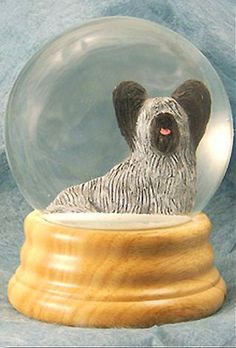 Skye Terrier Dog Musical Water Snow Globe Light Grey - You've Got a Friend Tune $99.99 at DogLoverStore.com Skye Terrier, Terrier Dogs, Terriers, Dog Lover Gifts, Dog Gifts, Dog Lovers, Dog Room Decor, Musical Snow Globes, Dog Varieties
