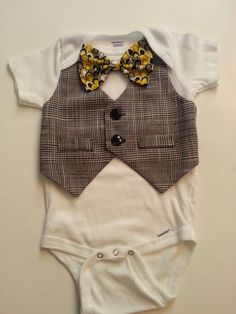 Really CUTE onesie with a vest attached!! Just add the pants!:)