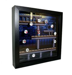 This item is unavailable This 9 x 9 shadowbox is inspired by the classic video game Super Mario World and made with high qua Mario Bros, Yoshi, Art Perle, Ghost House, Super Mario World, Geek Decor, Game Room Decor, Some Games, Box Art
