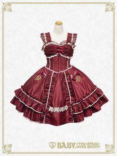 2527763d712c9 Embroidered pocket jumper skirt. ロリータファッション ...