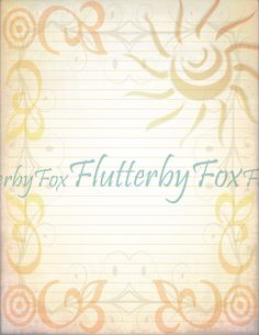 Sunshine Printable, First Page, Writing Paper, Printable Paper, Your Image, Fox, Printables, Messages, Journal